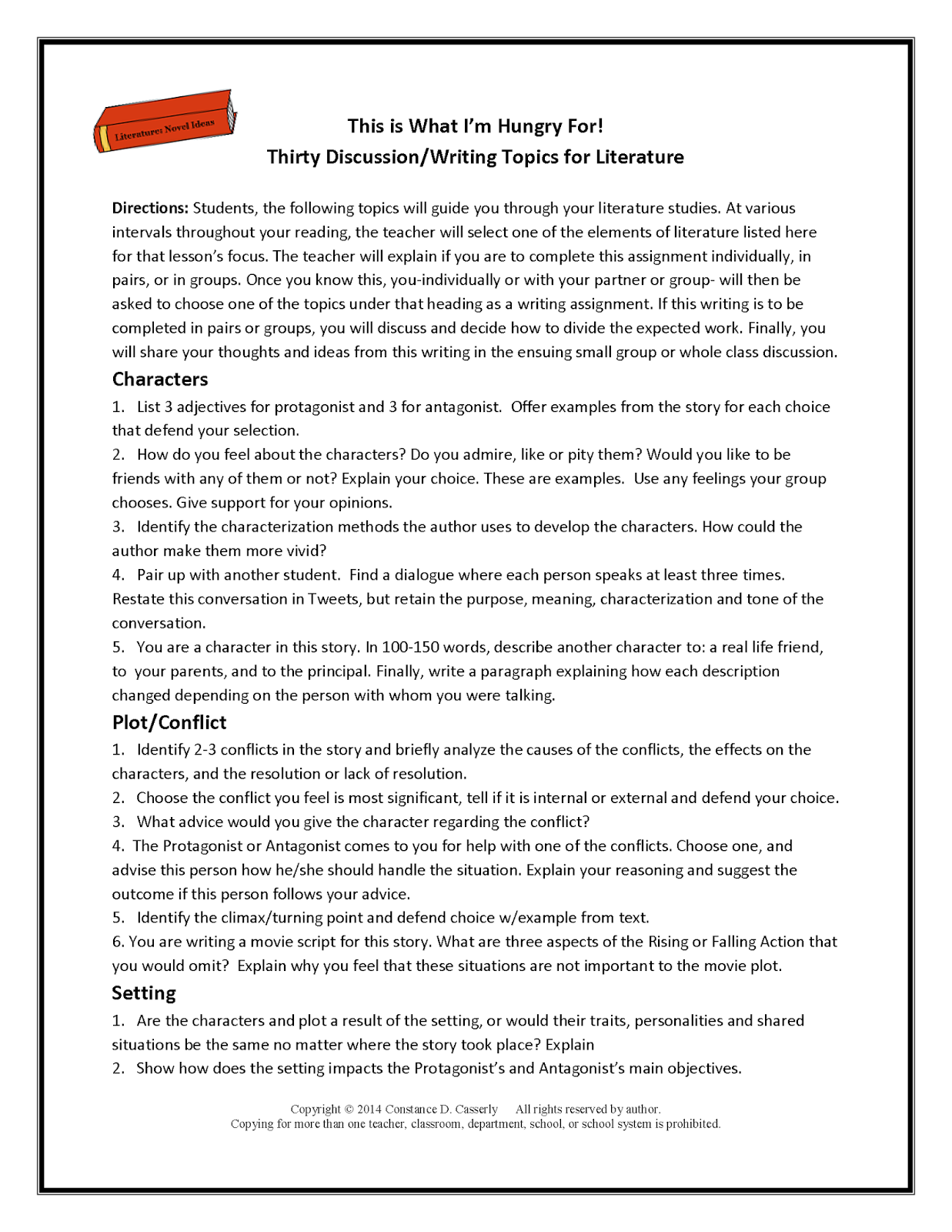Printables Middle School Reading Comprehension Worksheets teach it write february frenzy fabulous five packet this is what im hungry