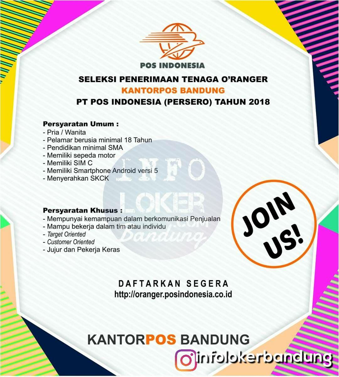 Lowongan Kerja PT.Pos Indonesia Bandung width=