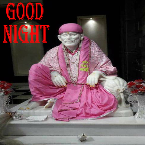 Sai Baba Good Night Image