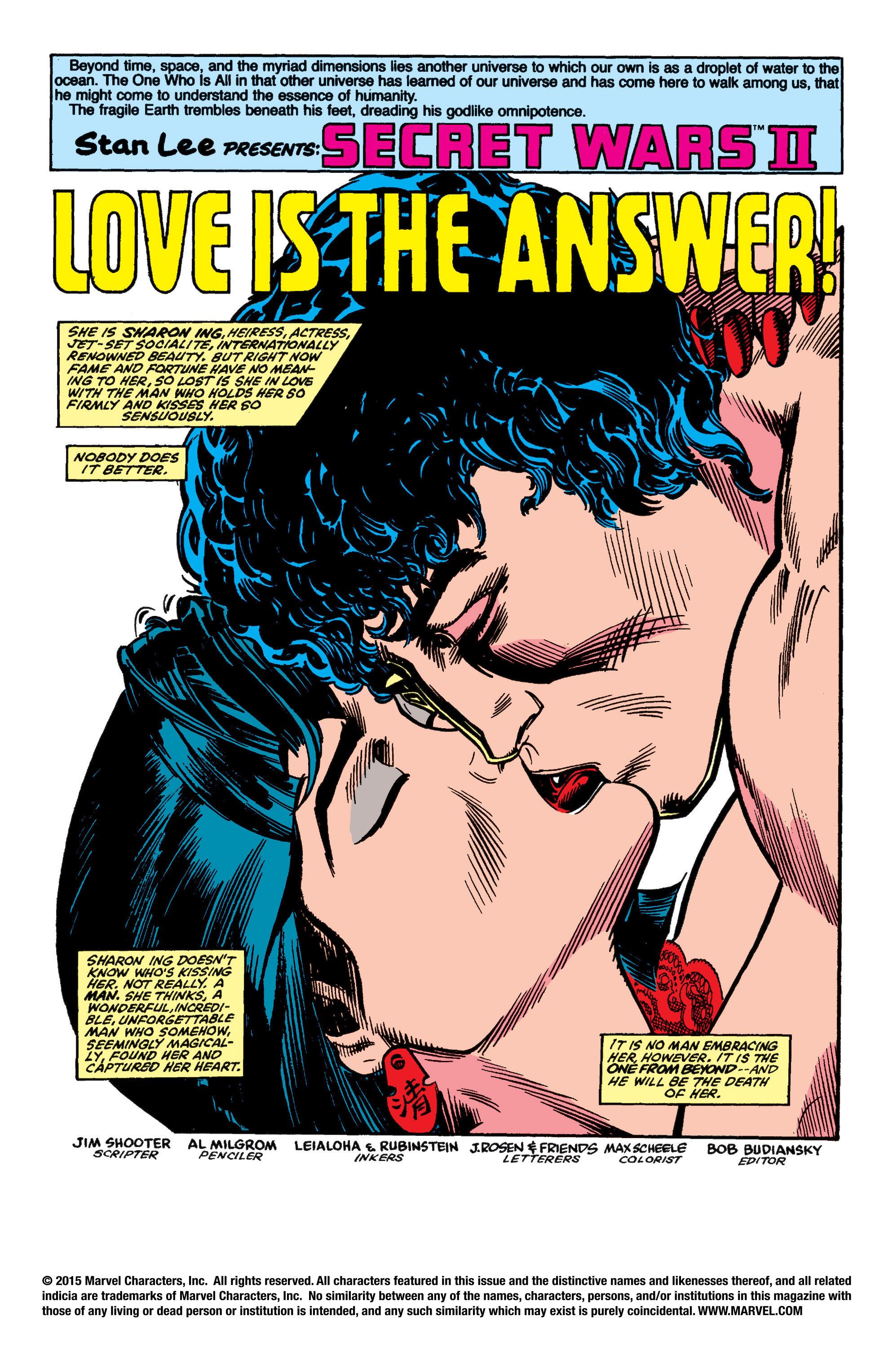Read online Secret Wars II comic -  Issue #4 - 2