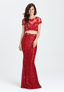 red sequins prom dress