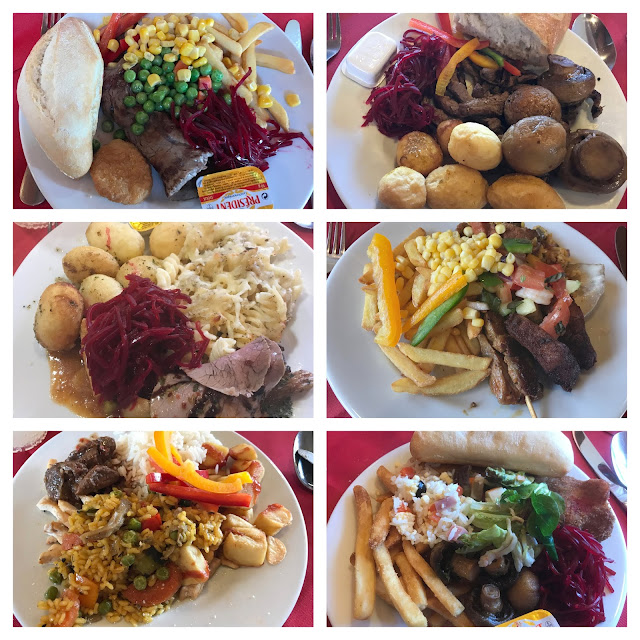 six meals from holiday at Pirates Village hotel Santa Ponsa Majorca
