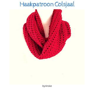 gratis haakpatroon colsjaal, sjaal, eenvoudig, beginner, byrinske