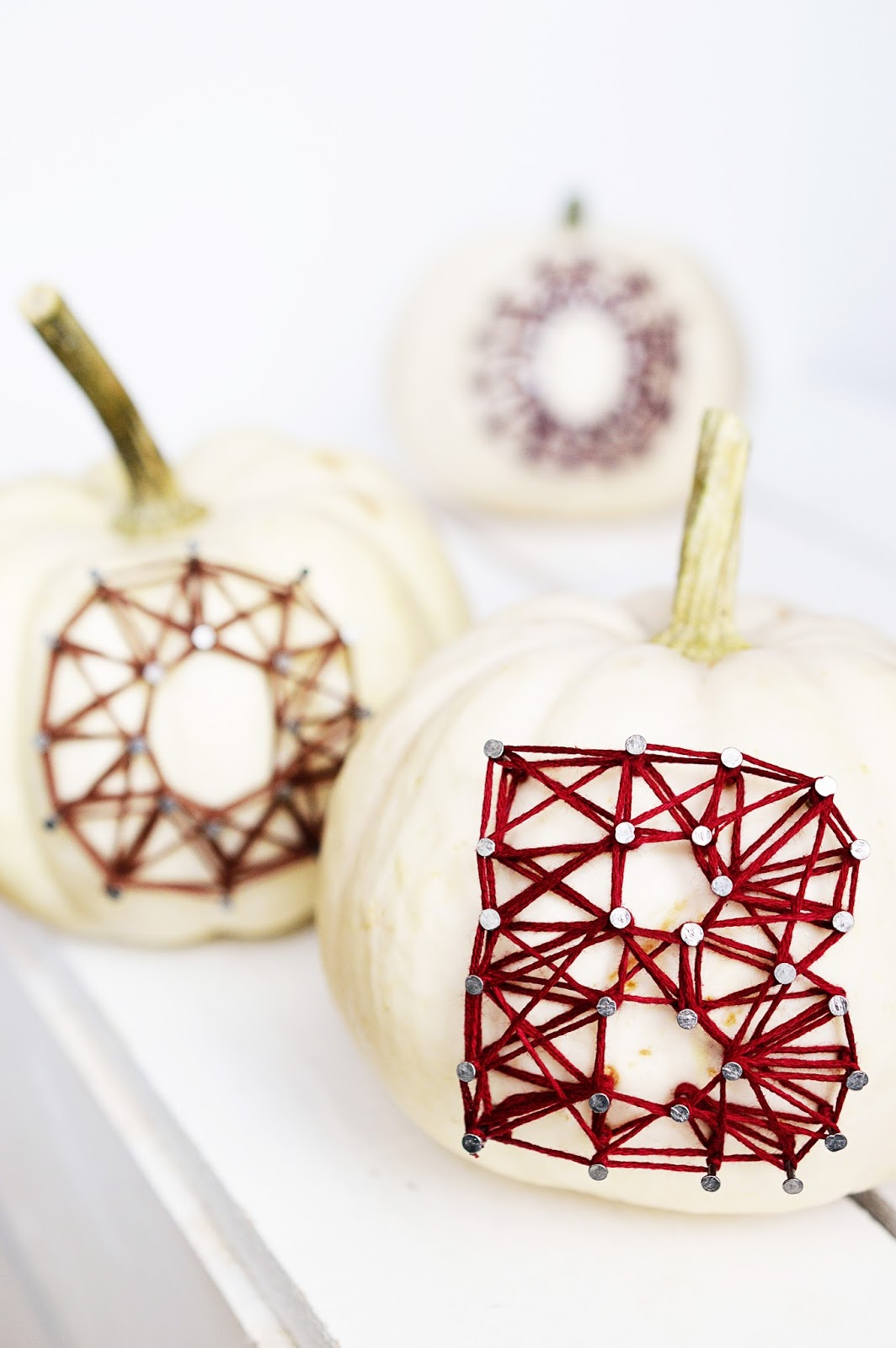 DIY String Art Pumpkins | Motte's Blog