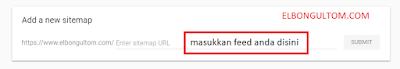 Tambahkan feed sitemap di google search google console