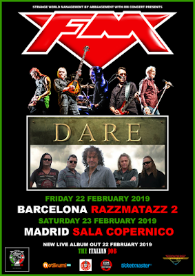 FM + Dare - Spain Feb 2019 - poster - Madrid Barcelona
