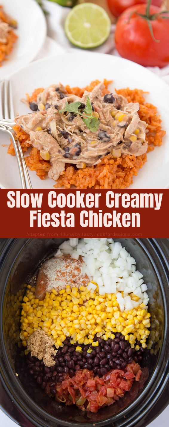 Slow Cooker Creamy Fiesta Chicken Recipe