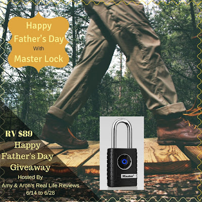 Enter the Happy Father's Day with Master Lock Giveaway. Ends 6/28