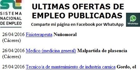 Nuñomoral, Malpartida de Plasencia, El Gordo, Cáceres, Lanzadera de Empleo Virtual
