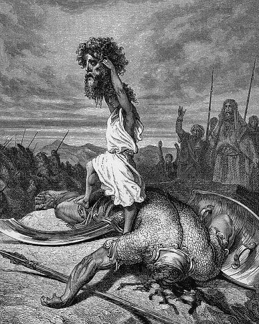 David vence Golias, Gustave Doré