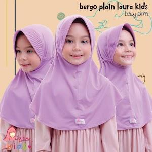 Jilbab Anak Bergo Plain Laura Warna Baby Plum By Miulan Kids