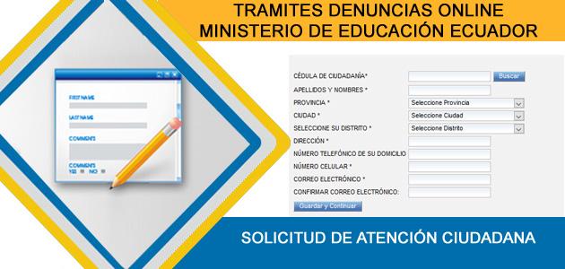 tramites denuncias ministerio educación ecuador