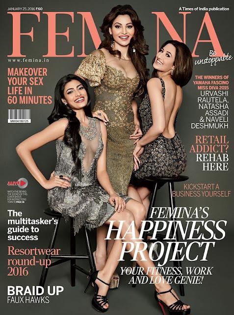 Urvashi Rautela in Femina Magazine 2015