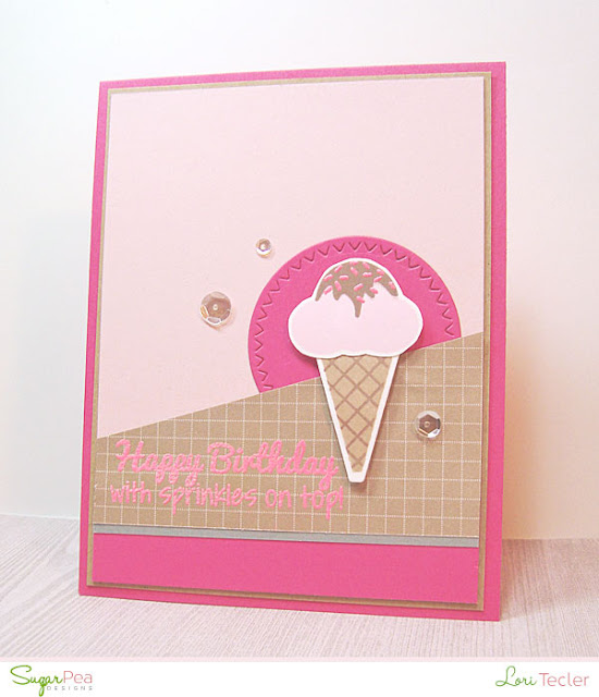 Happy Birthday With Sprinkles on Top card-designed by Lori Tecler/Inking Aloud-stamps and dies from SugarPea Designs