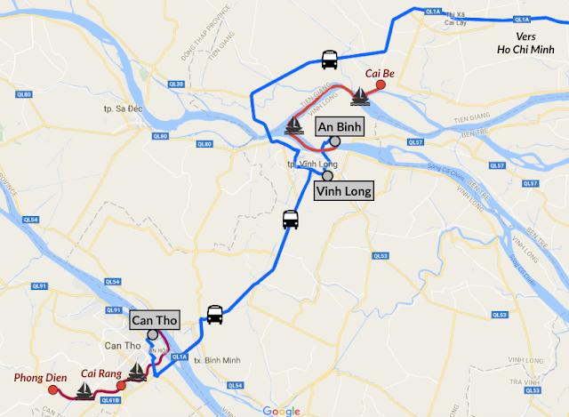 Itinéraire Delta du Mékong en 3 jours au Vietnam
