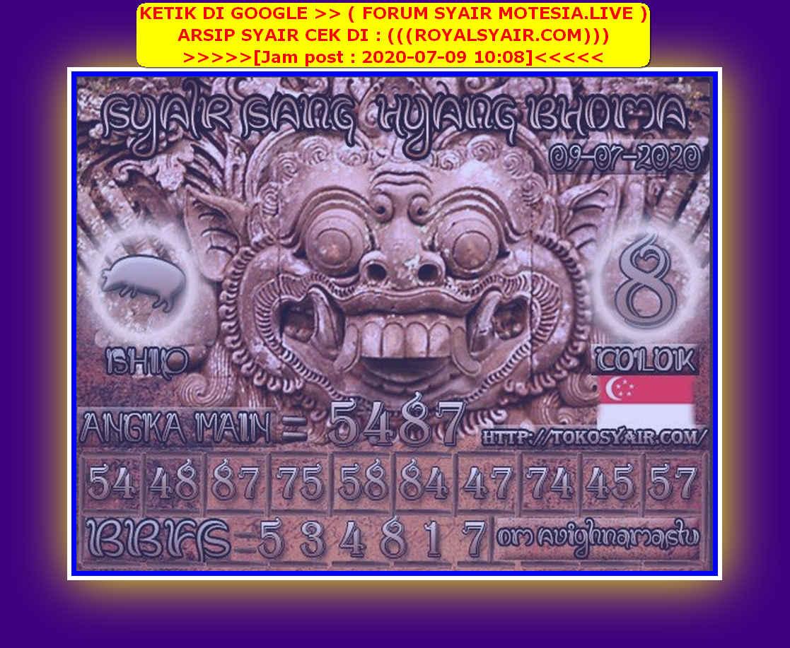 Kode syair Singapore Kamis 9 Juli 2020 165