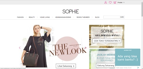 Belanja Make up di website Sophie Paris (Review website + unboxing)