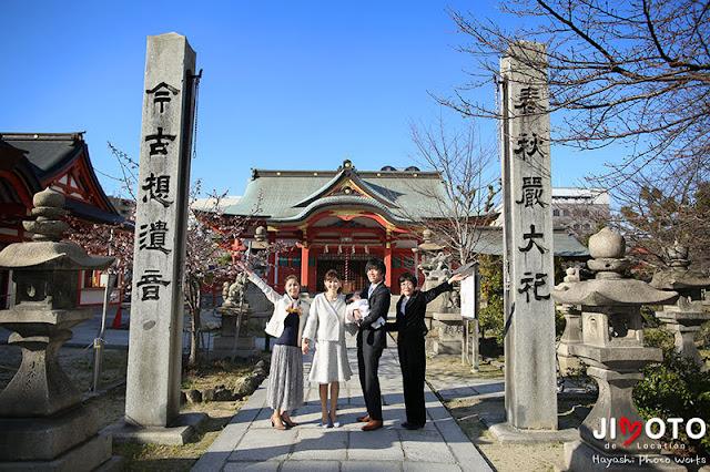 土佐稲荷神社でのお宮参り出張撮影