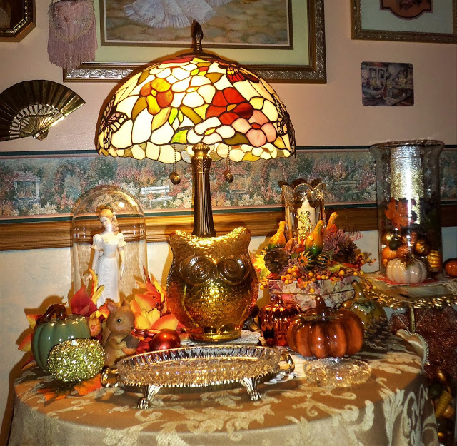 Fall Village and Vignettes in the Living Room........