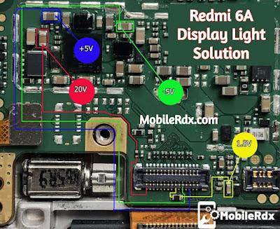 Redmi 6A Display Light Solution Backlight Ways