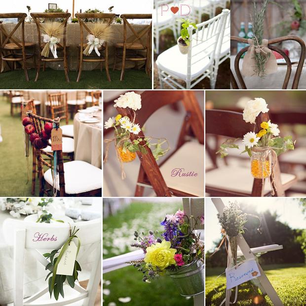 Rustic Wedding Flowers Ideas: Hens Love Trees