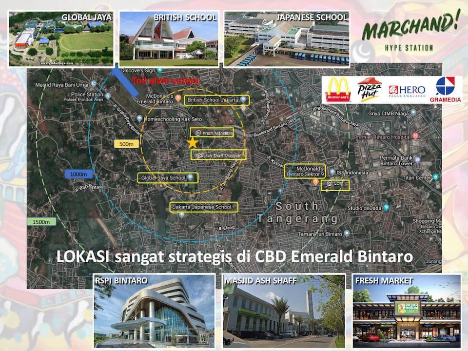Lokasi Marchand Bintaro