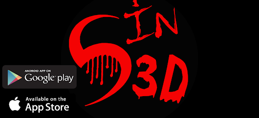 """Scared in 3d"" on the app store and google play"