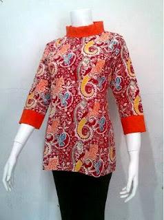 Contoh Baju Batik Wanita Kantor Modern