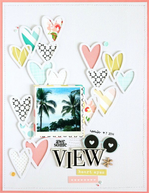 awesome View | Scrapbooking Layout | Felicity Jane Juni Kit