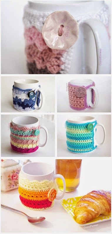 Cozy Mug Couvre tasse au crochet par CocoFlower - www.cocoflower.net