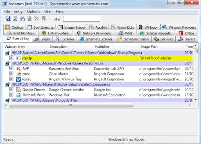 تسريع الحاسوب عند الاقلاع  مع اداة Microsoft Autoruns و التحكم في البرامج التي تفتح تلقائيا