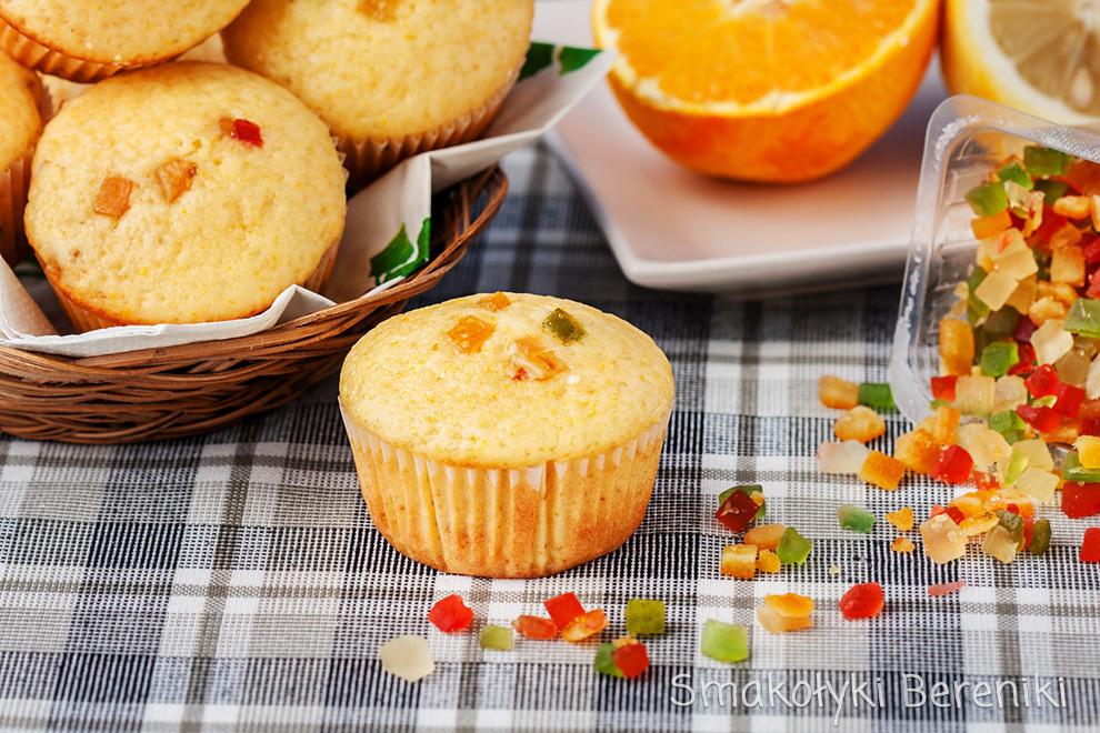 Muffiny z sokiem z owoców cytrusowych