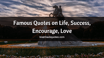 Famous Quotes on Life, Success, Encourage, Love - Brain Hack Quotes