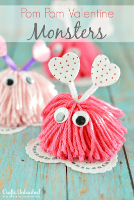 http://blog.consumercrafts.com/kids-stuff/valentine-craft-monsters/