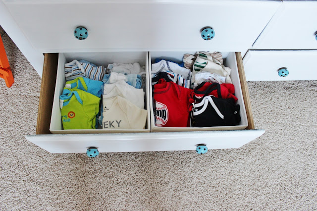 organizing dresser drawers in nursery