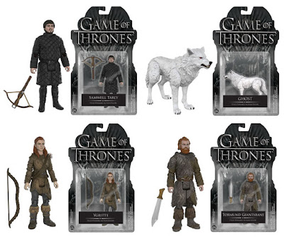 "Game of Thrones ""The Wall"" Series 3.75"" Action Figures by Funko - Samwell Tarly, Ghost, Ygritte & Tormund Giantsbane"