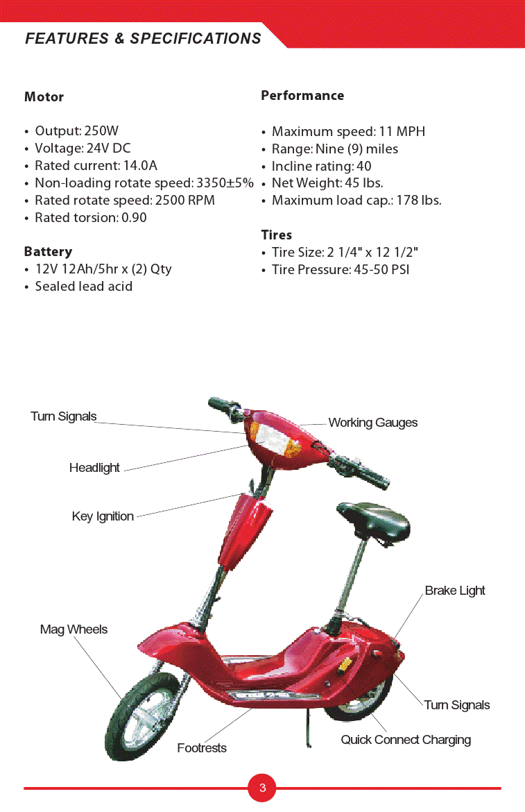 Scooters Assembly And User S Manual Owners And Service border=