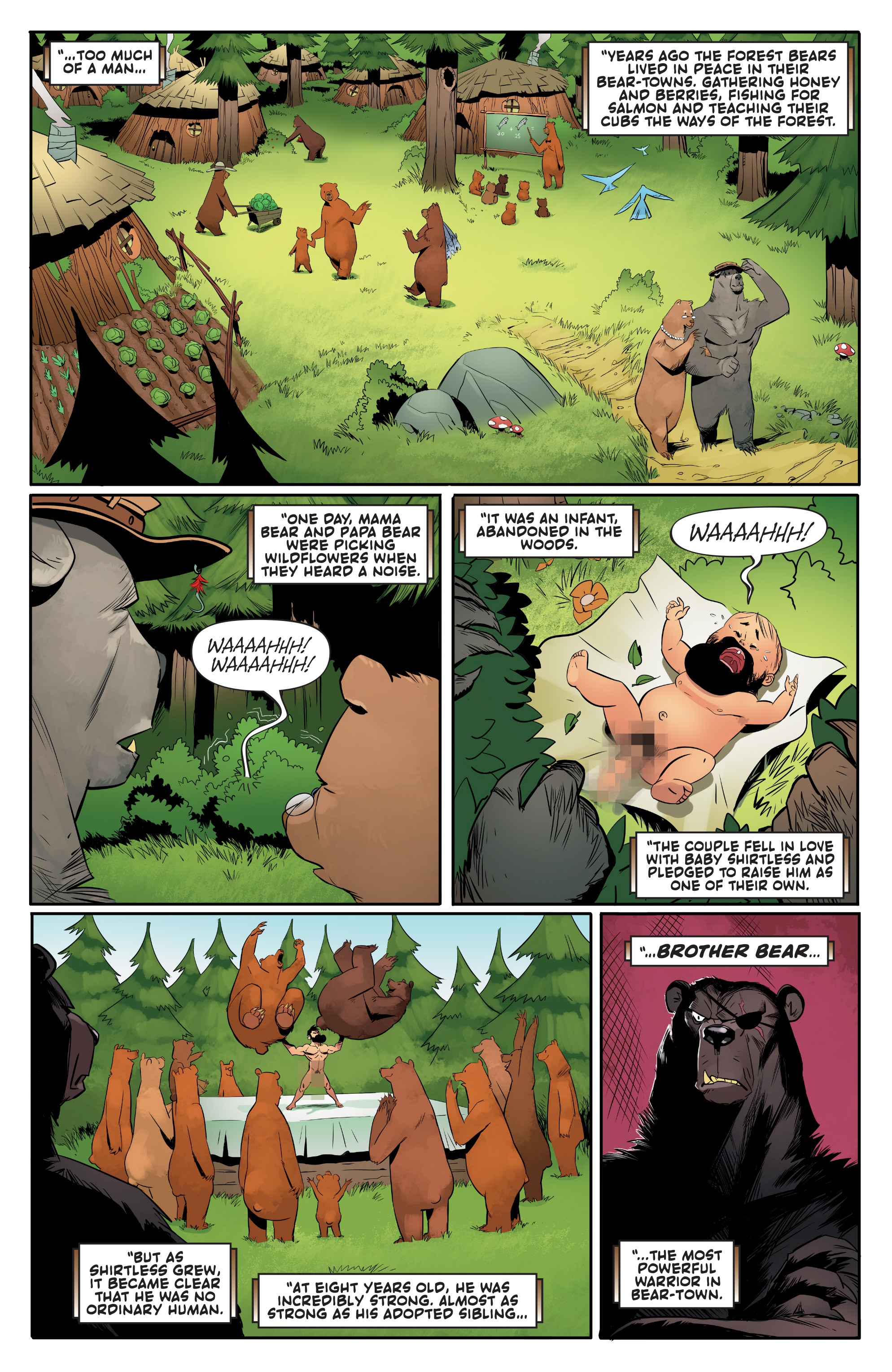 Read online Shirtless Bear-Fighter! comic -  Issue #1 - 19