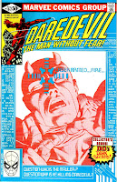 Daredevil v1 #167 marvel comic book cover art by Frank Miller