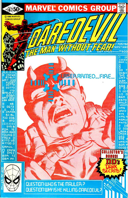 Daredevil v1 #167 marvel comic book cover art by Frank Miller