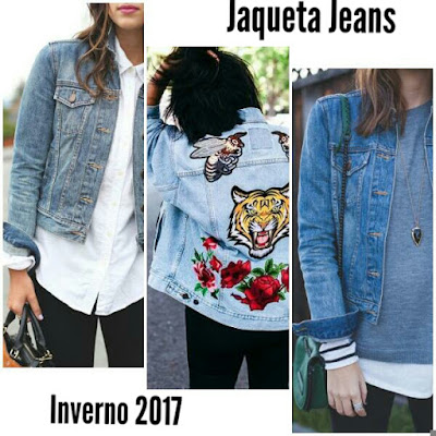 6a2e01434 Jaqueta Jeans – Inverno 2017