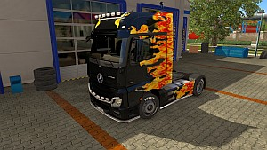 Flame skin for Mercedes Actros MP4