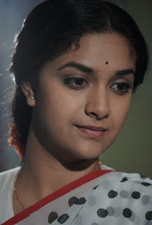 Keerthy Suresh in Saree with Cute and Awesome Lovely Expressions in Mahanati Working Stills 1