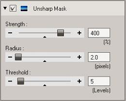 OV3 Unsharp Mask tool