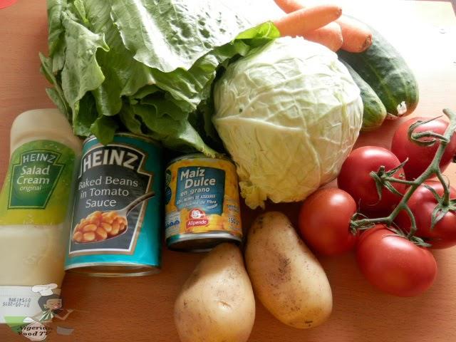 nigerian salad ingredients , Nigerian Salad, Nigerian Salad recipe, nigerian food recipe, nigerian food, nigerian food tv