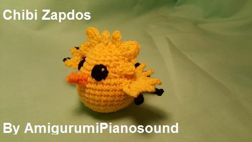 Amigurumipianosound Crochet Blog Chibi Zapdos Pokemon Free Crochet