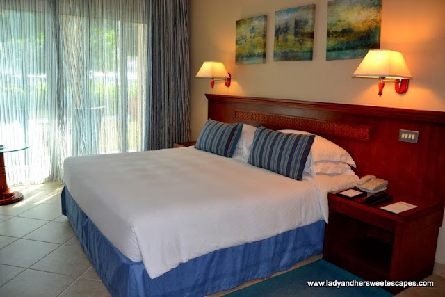 Fujairah Rotana Resort and Spa's comfy queen size bed