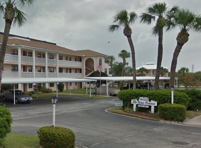 Royal Colonial Condominiums in Cocoa Beach, Florida.