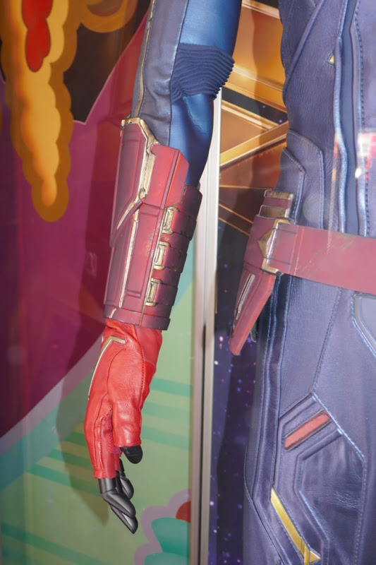 Captain Marvel movie costume gauntlet glove detail