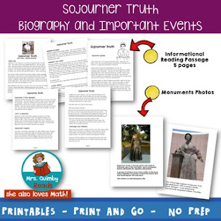 elementary teaching resources for biography, black history